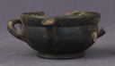 Image of Attic Black-Gloss Miniature Lopas (Cooking Pot)