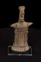Image of Archaic Boeotian Painted Terracotta Figurine of a Standing Woman