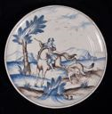 Image of Set of Plates with Hunting Scenes