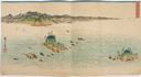 Image of View of the Whirlpools at Awa (Awa Naruto no fûkei), from an untitled set of three triptychs