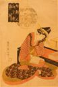 Image of Ichikawa of the Matsubaya, from the series Women of Seven Houses (Shichikenjin), pun on Seven Sages of the Bamboo Grove