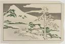 Image of Mount Fuji in Winter, from The Picture Book of Realistic Paintings of Hokusai (Hokusai shashin gafu)