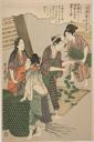 Image of No. 5 from the series Women Engaged in the Sericulture Industry (Joshoku kaiko tewaza-gusa)