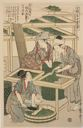 Image of No. 3 from the series Women Engaged in the Sericulture Industry (Joshoku kaiko tewaza-gusa)